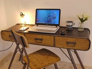Charmant Image Is Loading Stunning Urban Vintage Style Console Table Computer Desk