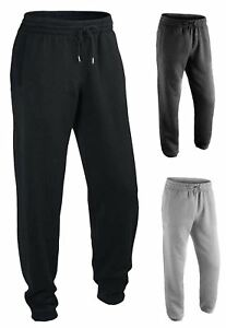 NEW MENS CASUAL ANKLE SIDE ZIP POCKET JOGGERS TROUSER FLEECE TRACKSUIT BOTTOMS
