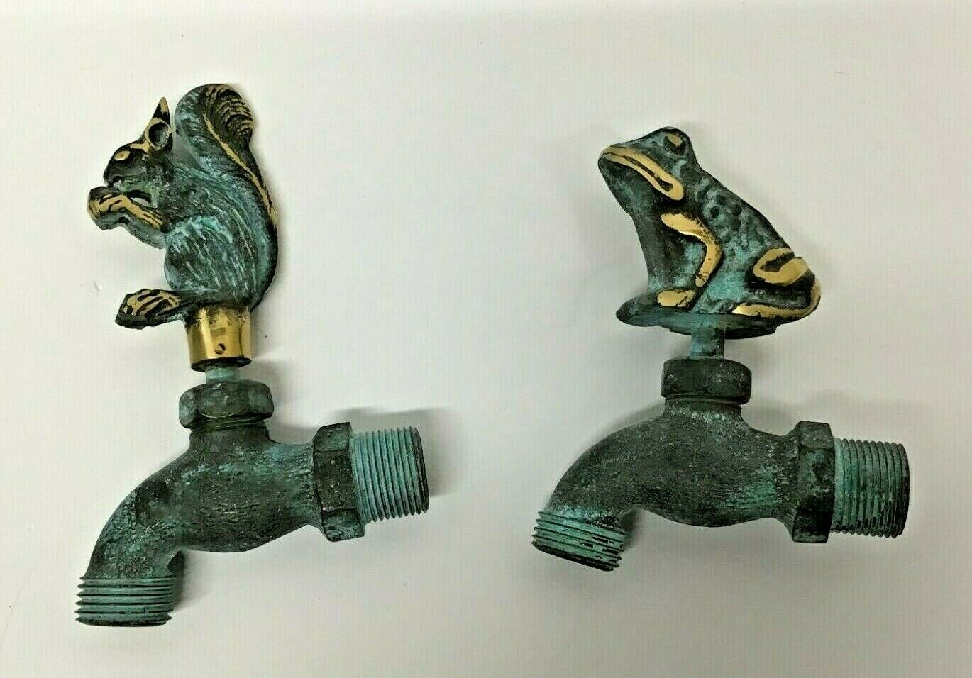 Solid Brass Squirrel and Frog 1/2 inch Water Faucet Spigot (Your Choice)