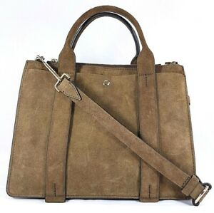 Theory-West-Bag-Brown-Suede-Mini-Satchel-Crossbody-Purse