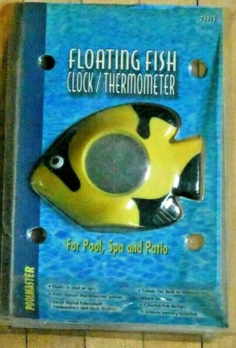 Floating Fish Clock//Thermometer