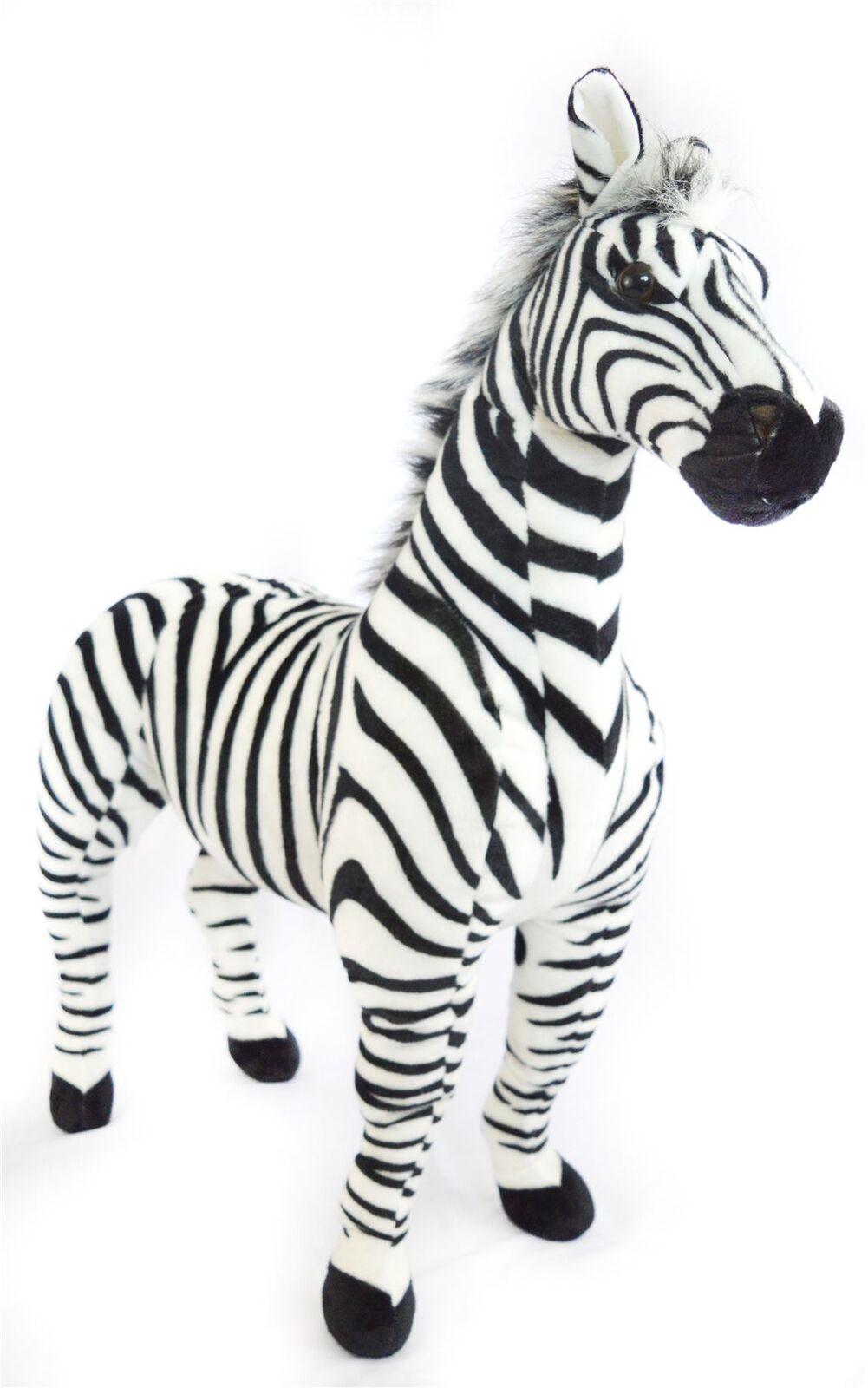 Zelassie the Zebra | 3 Foot Big Stuffed Animal Plush Zebra Horse Pony