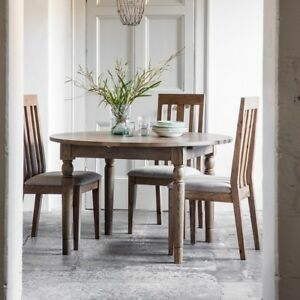 Details About Frank Hudson Gallery Direct Cookham Round Oak Extending Dining Table