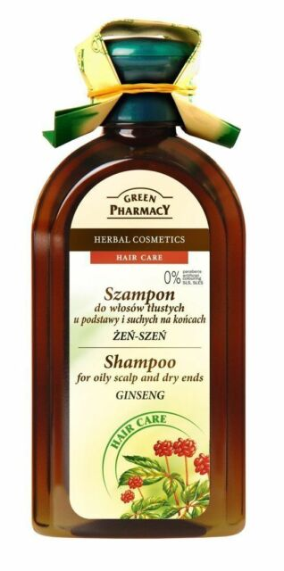 Green Pharmacy SHAMPOO OILY SCALP & DRY ENDS Ginseng Herbal Hair Care 350ml