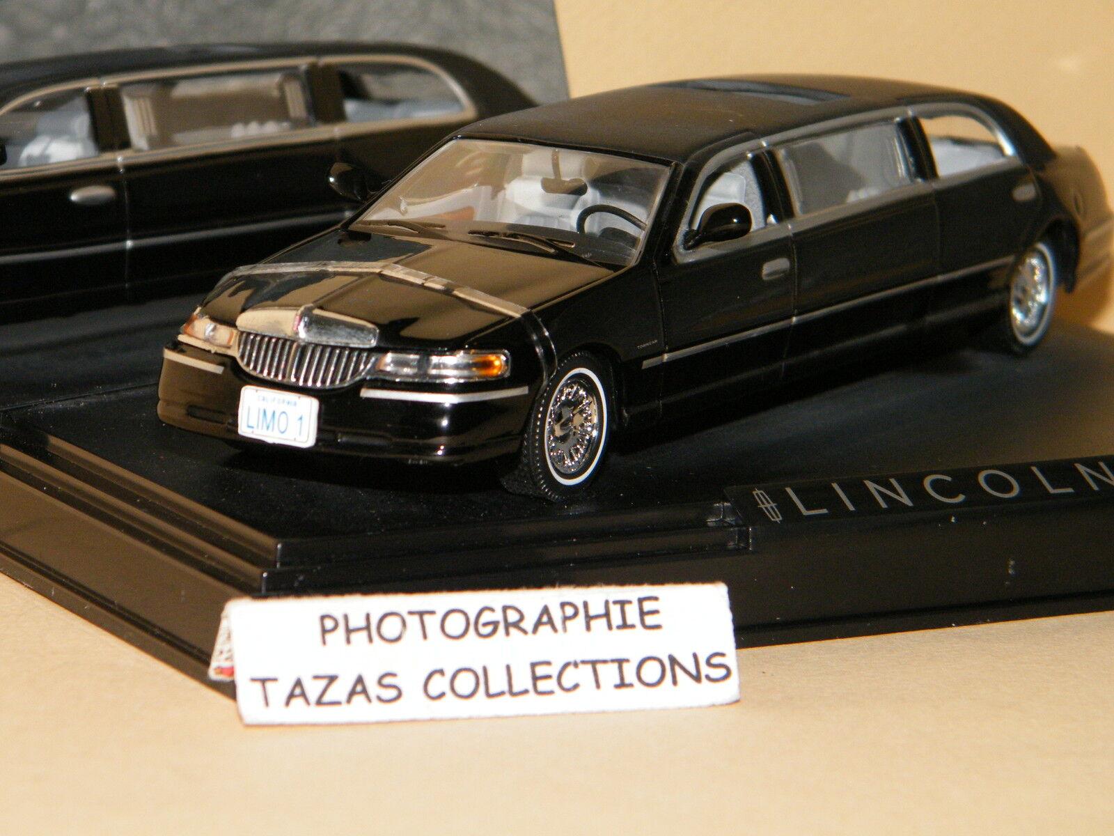 LINCOLN TOWN CAR LIMOUSINE NOIR 2000 - VITESSE 1 43 Ref 36311