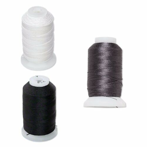 OO color white C black and dark grey. B O Purely genuine silk thread size A
