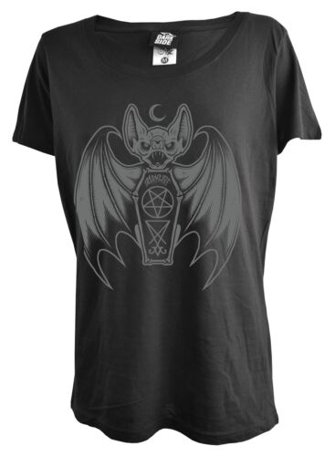 Bat Coffin Womens Genuine Darkside Scoop Neck T Shirt