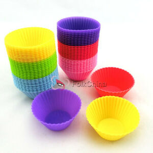 Silicone-Round-Shape-Cup-Cake-Muffin-Baking-Baking-Mould-Cupcake-Case-DIY