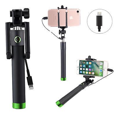 Selfie Stange Stick Stativ Teleskop Selbstauslöser für iPhone 5s - i-STCK  Grün