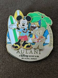 Disney-Pin-Trading-Aulani-Resort-Hawaii-Mickey-And-Duffy-Pin