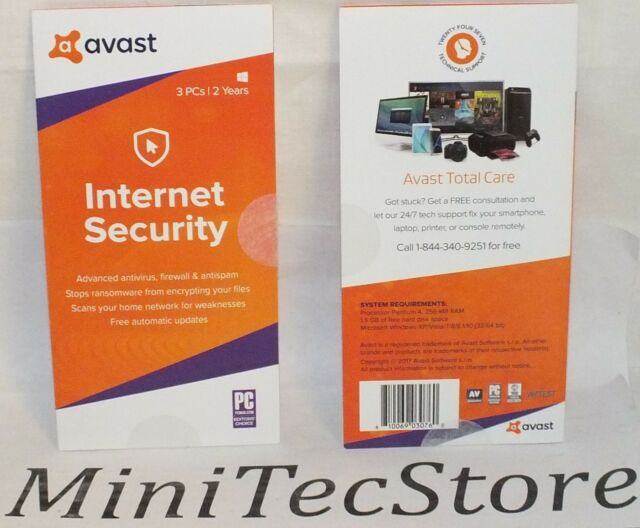 Avast Internet Security - 2 Years 3 Pcs Windows Antivirus Limited Time OFFER
