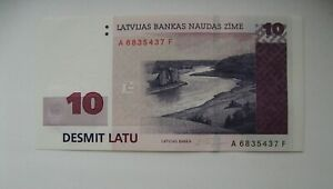 LATVIA-LETTLAND-10-LATU-2000-SERIE-AF-UNC-AUNC