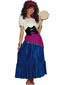 Image is loading GYPSY-FORTUNE-TELLER-ADULT-HALLOWEEN-COSTUME-WOMEN-039-  sc 1 st  eBay & GYPSY FORTUNE TELLER ADULT HALLOWEEN COSTUME WOMENu0027S SIZE STANDARD ...