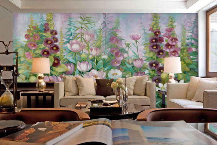 3D innumerevoli fiori Parete Murale Carta da parati immagine sfondo muro stampa