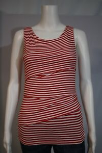 a65c9fe915012 Banana Republic Misses SMALL Red White Stripe Tiered Ruffle Tank Top ...
