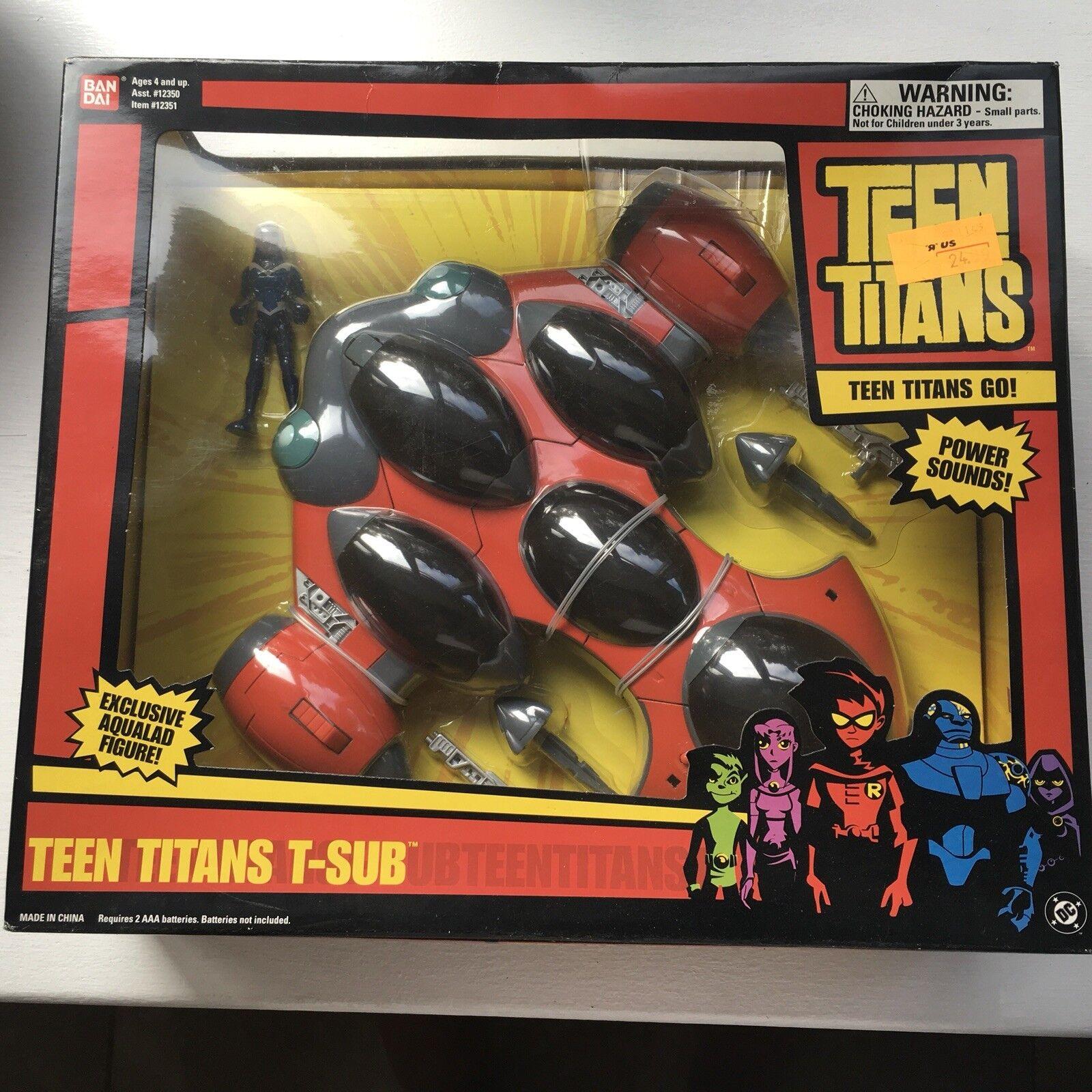 Teen Titans T-Sub incluye Raro 3' figura Aqualad Sellado Hype Pegatina TOYS R US