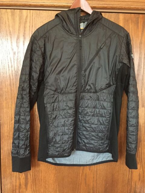 02f35ec102c icebreaker MerinoLOFT helix long sleeve zip hood jacket men's size medium