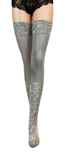NEW Microfibre Hold-Ups Satin Gloss Stockings size S L