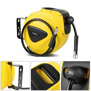 10M-Druckluftschlauch-Aufroller-Schlauchtrommel-Luft-Schlauchaufroller-Kupplung
