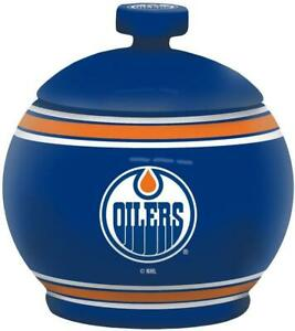 Edmonton Oilers 12 Ounce Ceramic Gametime Jar (New) Calgary Alberta Preview