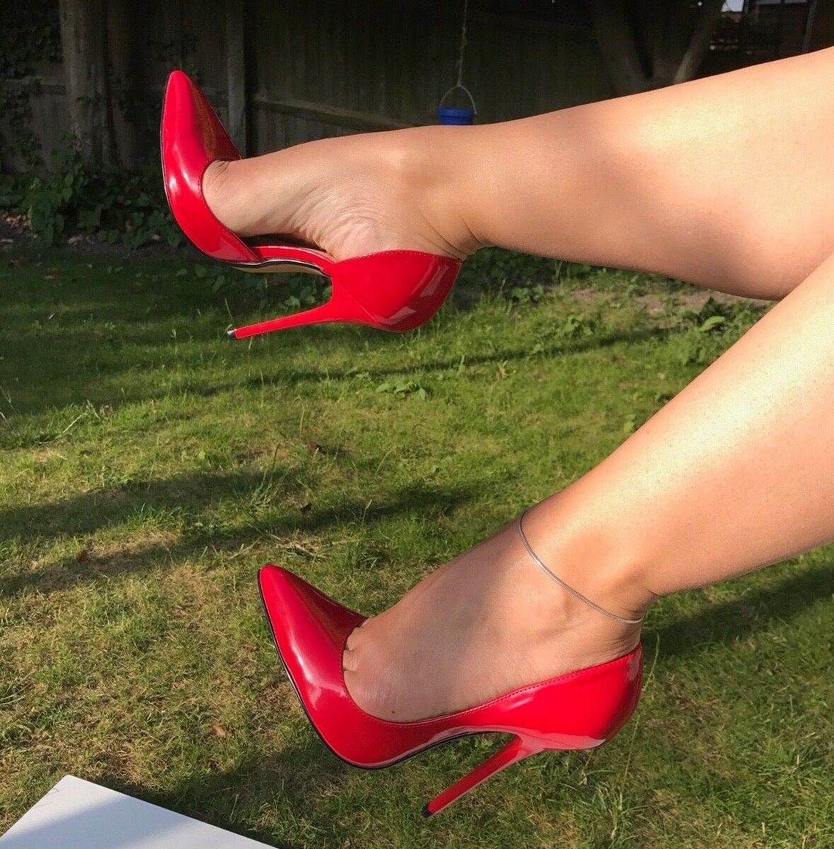 Sexy D'Orsay 13.5cm 5  high heel stiletto pump fetish black red patent suede