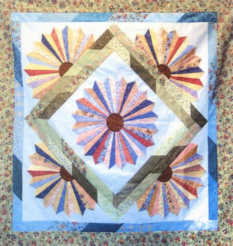 Dresden Bloom Quilt Pattern by Cozy Quilt Designs Jelly Roll Friendly