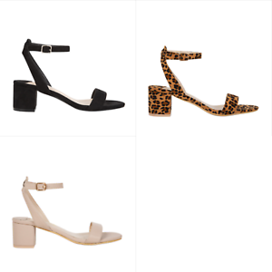 Details about Tempest | Obsessed | Womens Strappy Low Block Heel | Spendless Shoes