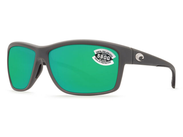 ffbb47c92 Costa Del Mar Mag Bay AA 98 Matte Gray Sunglasses Green 580g