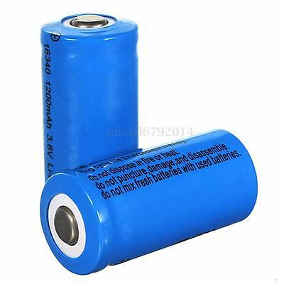 2 x 1200mAh 3.6V 16340 CR123A Li-ion Rechargeable Battery For Flashlight Torch