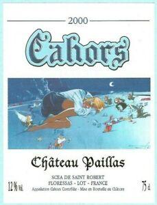 Miniac-Etiquette-de-vin-Cahors-Chateau-Paillas-2000
