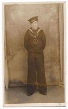 HMS ARETHUSA Royal Navy Sailor RP Postcard by Vandyke of Birmingham