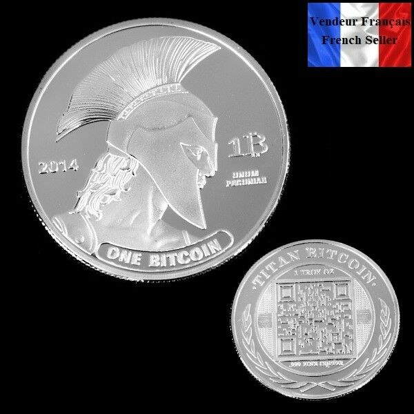 1 Pièce Plaquée Argent ( Silver Plated Coin) - Bitcoin Titan Btc Achat SpéCial