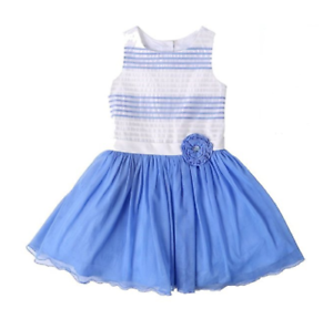 NWT-Jona-Michelle-Girls-Special-Occasion-Dress-Lt-Blue-Stripe-6