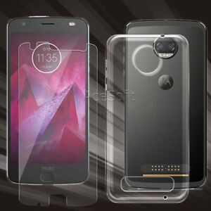 For Motorola Moto Z2 Force XT1789 9H+ HD Tempered Glass Screen Protector or Case