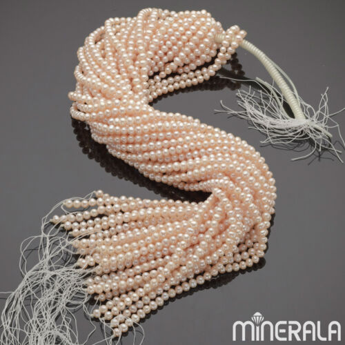 """WHOLESALE NATURAL FRESHWATER PEARL PEACH COLOR POTATO BEADS 15/"""" STRAND"""