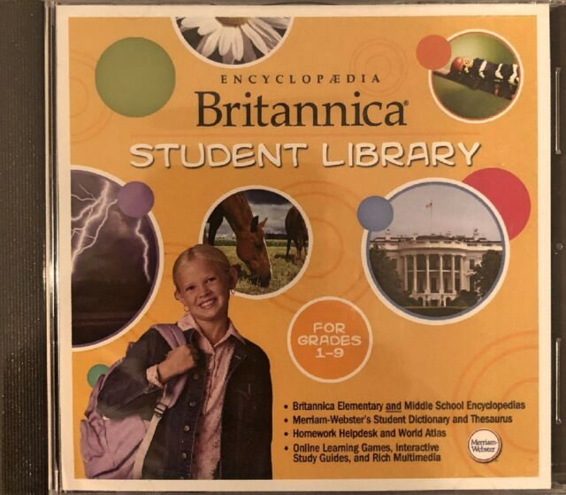 Encyclopedia Britannica Student Library Pc Brand New XP