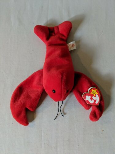 Pellets 6-19-1993 Retired Beanie Baby Pinchers the Lobster Style 4026 P.V.C