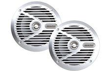 "Alpine Type S SPS-M601 110 Watts 6.5"" 2-Way Coaxial Marine Speakers 6-1/2 SILVER"