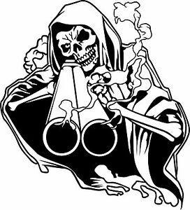 Grim-Reaper-Shotgun-Skull-Skeleton-Hunting-Gun-Truck-Window-Vinyl-Decal-Sticker