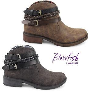 Image is loading Blowfish-Malibu-Womens-Vianna-Ankle-Boots-Side-Zip- d58d5ebd6940