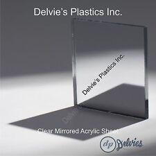 "1 Sheets 1/8"" CLEAR Mirrored Acrylic Plexiglass 12"" x  24"""