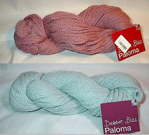 Debbie-Bliss-Paloma-Alpalca-Merino-Blend-Yarn-Color-Choice-Loom-Knit-Crochet-FS