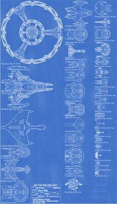 REBEL FLEET BLUEPRINTS POSTER 22x34 MOVIES 14490 STAR WARS