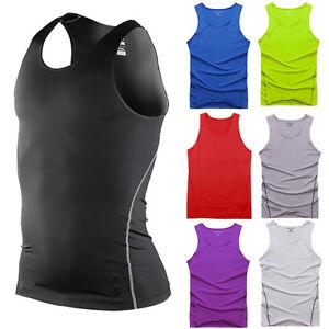 Herren-Kompressionsshirt-Funktionsshirt-Fitness-Sport-Laufen-Shirt-Unterhemd-Gym