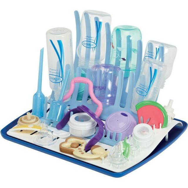 Baby Feeding Glass Bottle Dryer Drying Shelf Drainer Rack Storage Holder LD