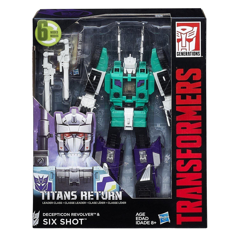 Transformers Líder Clase Revolver & seis tiro Titanes Retorno Figura De Acción Nueva