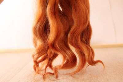"Doll hair 5/"" Premium mohair Curly goat locks Angora cognac"