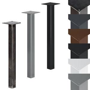 Details zu Tischbein Untergestell 40x40mm Tischgestell Tischkufen Quadratrohr Tischfuß