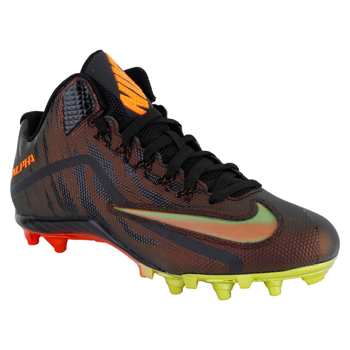 NIKE ALPHA PRO 2 3 4 TD LE MID MEN'S FOOTBALL CLEATS 820280-878 MSRP