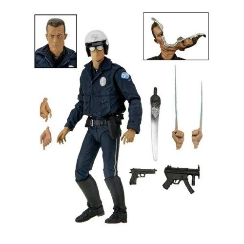 """poliziotto moto NECA-TERMINATOR 2 7/"""" Scale Figura Azione Ultimate T-1000"""